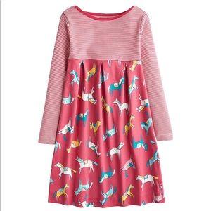 Joules Stripes & Horse Print Dress